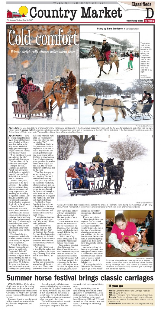 Sleigh Rally for Country Today
