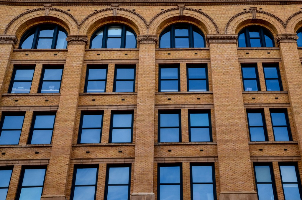 Windows in a building in Milwaukee
